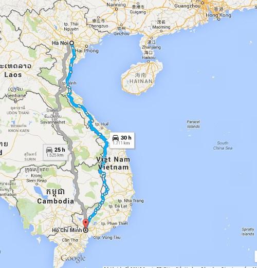 Dịch vụ vận tải từ Hà Nội đi Sài Gòn uy tín, giá rẻ nhất