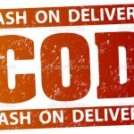 COD (cash on delivery) rubber stamp