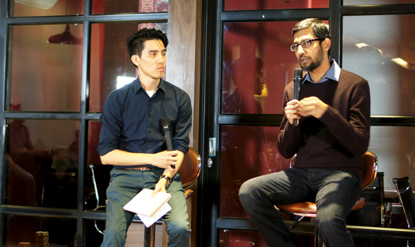 Ông Sundar Pichai trong buổi giao lưu với start-up Việt