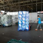 Hình ảnh những gói hàng cứu trợ chuẩn bị được đưa lên máy bay tại thành phố Hồ Chí Minh
